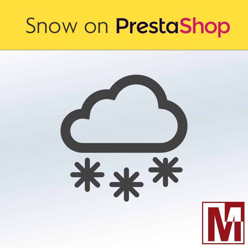 Chute de neige sur PrestaShop 1.7