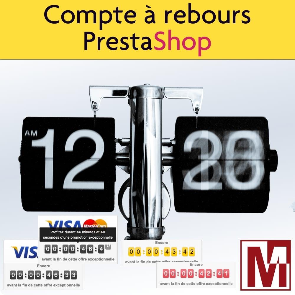 Module PrestaShop compte à rebours promotion