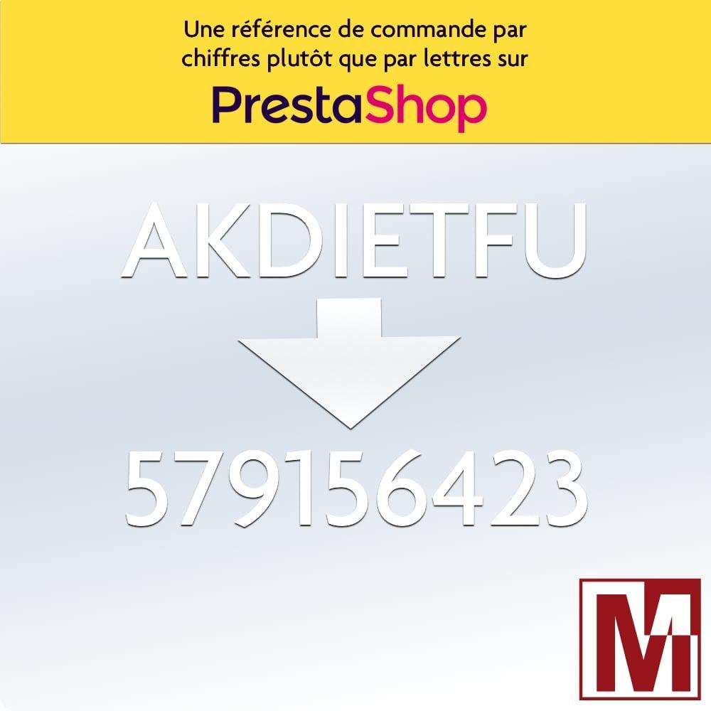 Module gratuit PrestaShop et Thirtybees pour remplacer els lettres de la référence commande par des chiffres