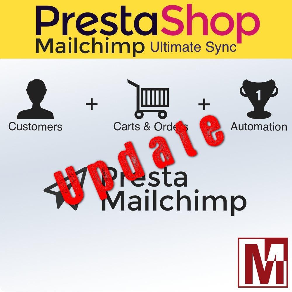 Mise à jour du module de synchronisation de PrestaShop avec Mailchimp