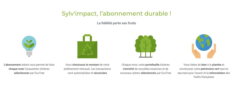 Sylv'impact l'abonnement par ecoTree