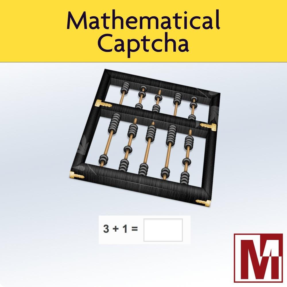 Module PrestaShop Medmathcaptcha par Mediacom87
